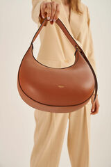 Oroton Arne Moulded Bag in Brandy and Smooth Leather for female