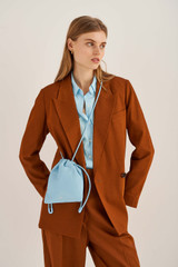 Oroton Lilia Crossbody in Lagoon and Smooth Leather for female