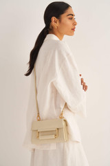 Oroton Edith Small Day Bag in French Vanilla and Smooth Leather for female