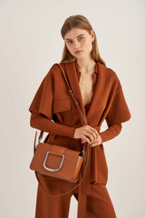 Oroton Cole Day Bag in Cognac and Smooth Leather for female