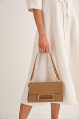 Oroton Edith Day Bag in Cognac and Smooth Leather for female