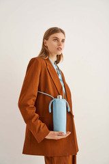 Oroton Lilia Water Bottle Holder in Lagoon and Smooth Sheep Leather for female