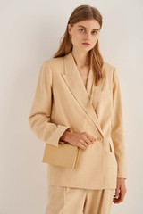 Oroton Ivy Wallet Crossbody in Mango and Smooth Leather for female