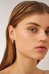 Oroton Blakely Hoops in Gold and Brass Based Metal With Precious Metal Plating for female