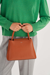 Oroton Muse Small Day Bag in Cognac and Saffiano / Smooth Leather for female
