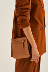 Oroton Margot Tiny Bucket Bag in Husk and Pebble Leather for female