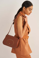 Oroton Lloyd Day Bag in Whiskey and Smooth Leather for female