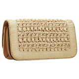 Oroton Savin Collectable Small Day Bag in Natural/Brandy and Woven for female