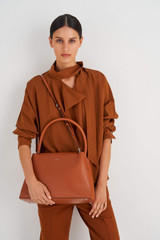 Oroton Muse Day Bag in Cognac and Saffiano / Smooth Leather for female