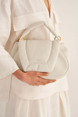 Oroton Luis Day Bag in Clotted Cream and Smooth Leather for female