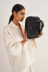 Oroton Luis Day Bag in Black and Smooth Leather for female