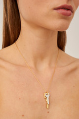 Oroton Bridget Necklace in Gold/Silver and Brass Based Metal With Precious Metal Plating for female