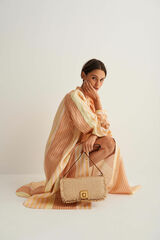 Oroton Savin Collectable Day Bag in Natural/Brandy and Woven for female
