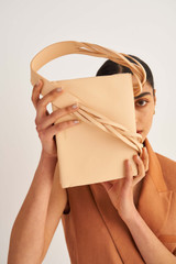 Oroton Jade Day Bag in Mango and Smooth Leather for female