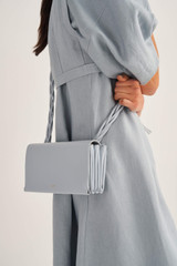 Oroton Jade Crossbody in Dusk Blue and Smooth Leather for female