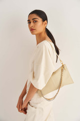 Oroton Pierre Day Bag in French Vanilla and Smooth Leather for female