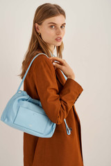 Oroton Lilia Day Bag in Lagoon and Smooth Leather for female