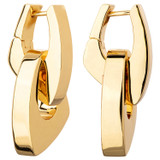 Oroton Blakely Double Hoop in Gold and Brass Based Metal With Precious Metal Plating for female