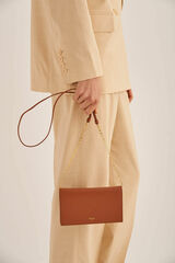Oroton Ivy Wallet Crossbody in Brandy and Smooth Leather for female