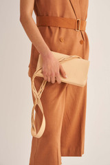 Oroton Jade Crossbody in Mango and Smooth Leather for female