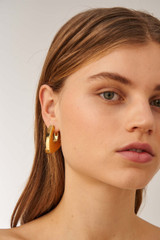 Oroton Blakely Large Earrings in Gold and Brass Based Metal With Precious Metal Plating for female