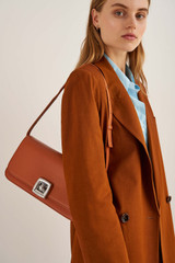 Oroton Savin Day Bag in Rich Cognac and Smooth Leather for female