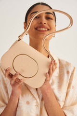 Oroton Lloyd Small Day Bag in Pink Sand and Pebble Leather for female