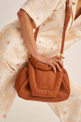 Oroton Luis Day Bag in Rich Cognac and Smooth Leather for female
