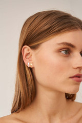 Oroton Bridget Studs Set in Gold/Silver and Brass Based Metal With Precious Metal Plating for female