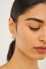Oroton Blair Small Drop Earrings in Worn Gold and Brass Based Metal With Precious Metal Plating for female