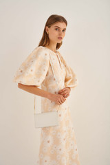 Oroton Ivy Wallet Crossbody in Pure White and Smooth Leather for female