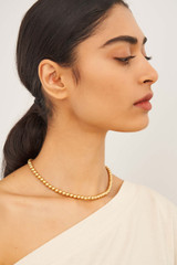 Oroton Blair 6MM Necklace in Worn Gold and Brass Based Metal With Precious Metal Plating for female