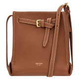 Oroton Margot Tiny Bucket Bag in Whiskey and Pebble Leather for female