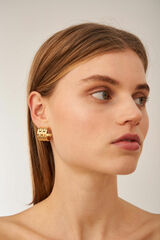 Oroton Kylo Hoops in Worn Gold and Brass Based Metal With Precious Metal Plating for female