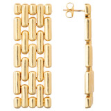 Oroton Kylo Earrings in Worn Gold and Brass Based Metal With Precious Metal Plating for female