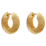 Oroton Estrella Mini Hoops in Gold and Brass Based Metal With Precious Metal Plating for female