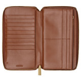 Oroton Lloyd Book Wallet in Whiskey and Smooth Leather for female