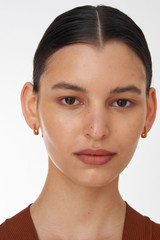 Oroton Lacey Medium Hoops in Worn Gold and Brass Based Metal With Precious Metal Plating for female