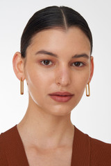 Oroton Lacey Large Hoops in Worn Gold and Brass Based Metal With Precious Metal Plating for female