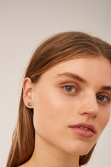 Oroton Lacey Studs in Silver and Brass Based Metal With Precious Metal Plating for female
