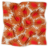 Oroton Floral Scarf in Print and 100% Silk Twill for female