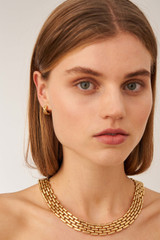 Oroton Kylo Necklace in Worn Gold and Brass Based Metal With Precious Metal Plating for female