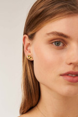 Oroton Harlow Studs in Worn Gold and Brass Based Metal With Precious Metal Plating/Glass Bead for female