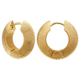 Oroton Estrella Hoops in Gold and Brass Based Metal With Precious Metal Plating for female