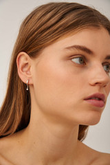 Oroton Esme Pearl Hoops in Silver/White and Sterling Silver Based Metal With Precious Metal Plating/Fresh Water Pearl for female