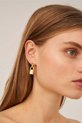 Oroton Evie Earrings in Worn Gold and Brass Based Metal With Precious Metal Plating for female