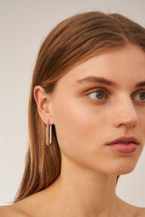 Oroton Lacey Large Hoops in Silver and Brass Based Metal With Precious Metal Plating for female