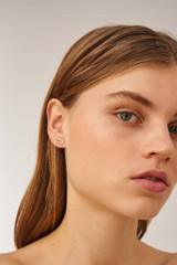 Oroton Lacey Studs in Worn Gold and Brass Based Metal With Precious Metal Plating for female