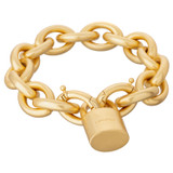 Oroton Evie Bracelet in Worn Gold and Brass Based Metal With Precious Metal Plating for female