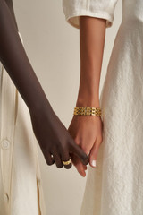 Oroton Kylo Bracelet in Worn Gold and Brass Based Metal With Precious Metal Plating for female